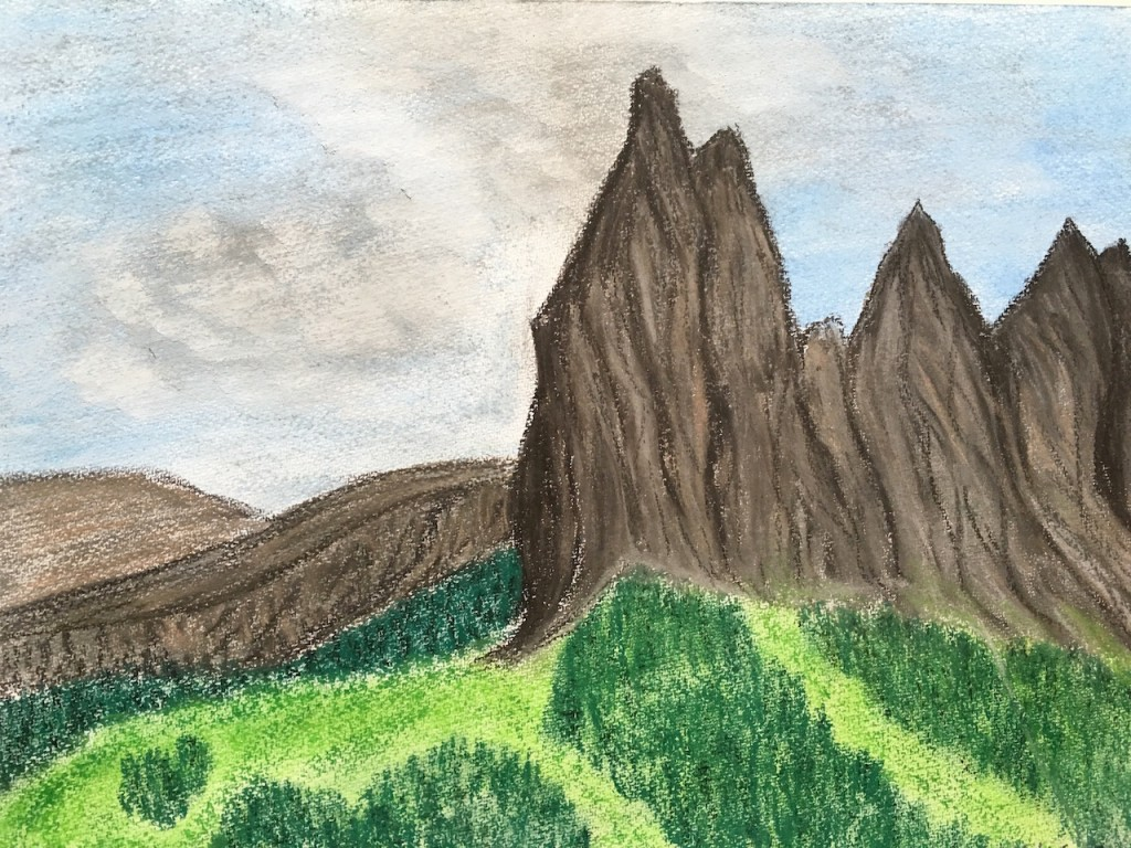 Berge, Pastellkreide, DIN A3 (Dez. 2015)