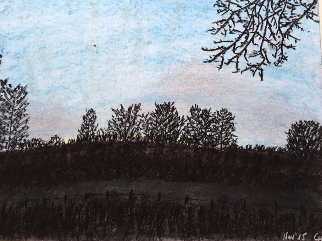 Schwarz und Blau, Pastellkreide, DIN A 3 (Nov. 2015)