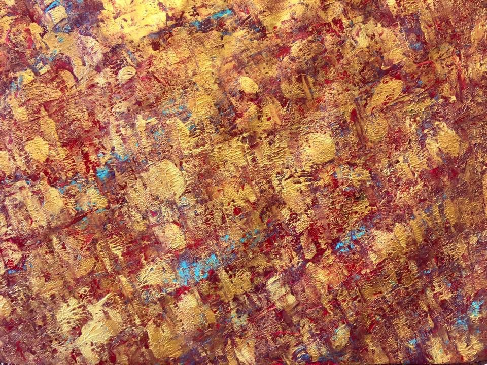 Acryl, abstract, Gold, DIN A2 (Feb. 2016)