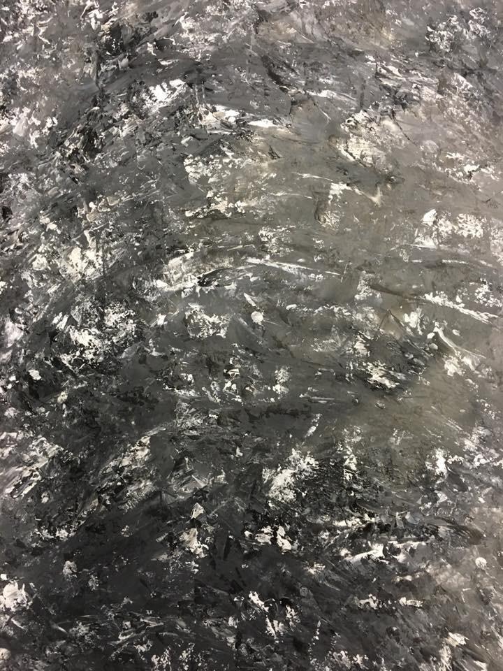 Acrylic, abstract, Spachteltechnik, DIN A2 (Feb. 2016)