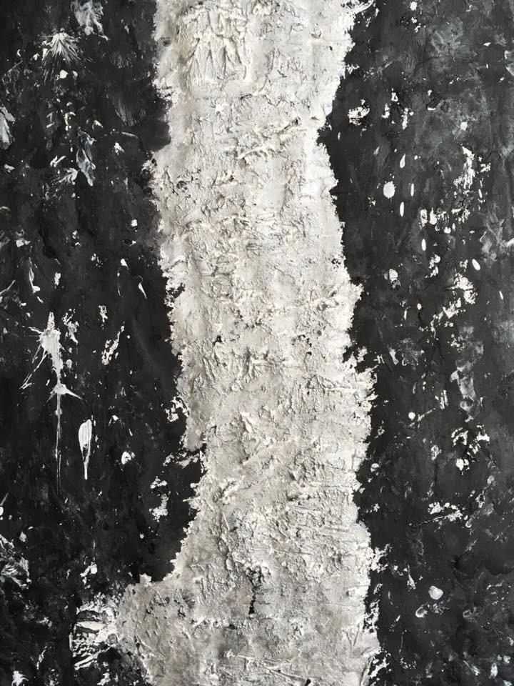 Acrylic, abstract, Spachteltechnik, DIN A3 (Mrz. 2016)