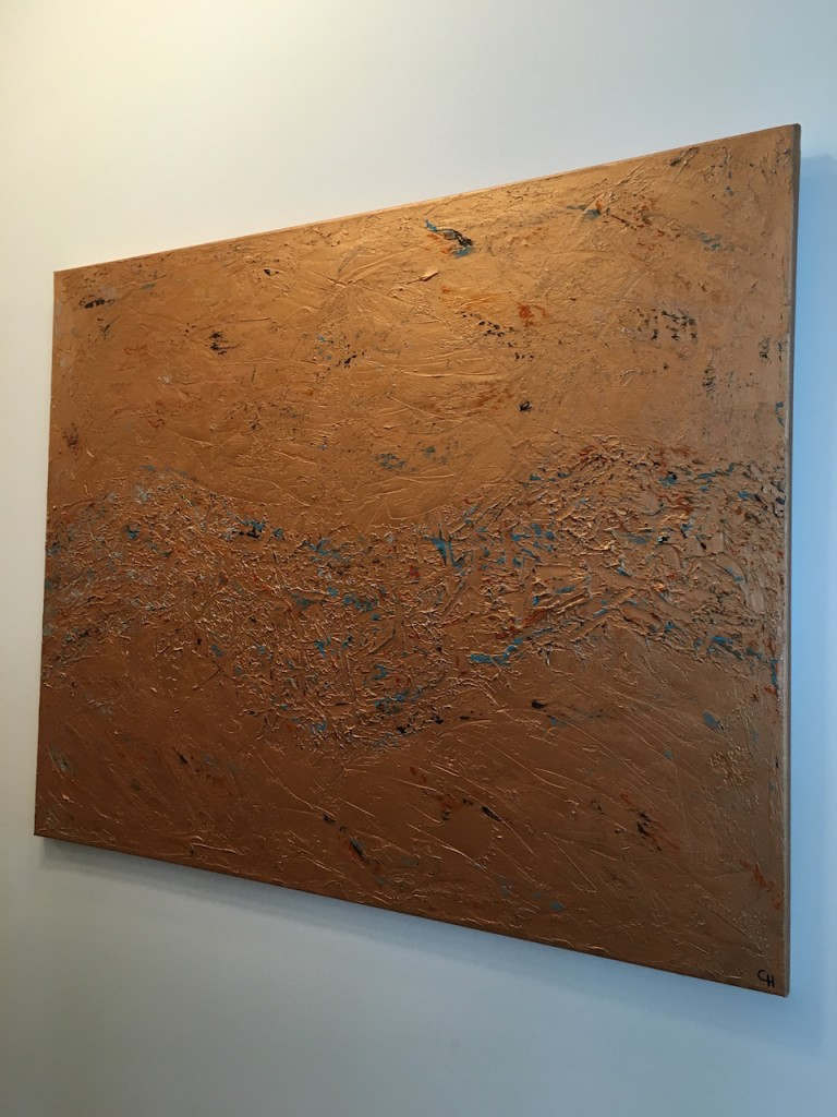"Acrylic, abstract, ""Lebensweg"" 3/3 Bronze, Leinwand 100x80cm (Mrz. 2016)"