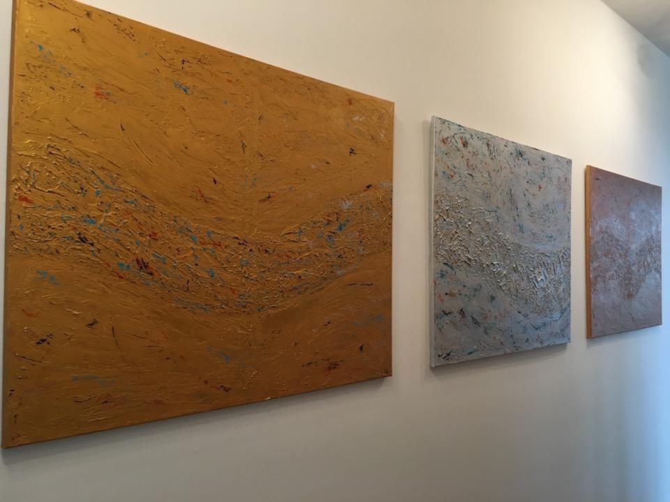 """Acrylic, abstract, """"Lebensweg"""", Leinwand 100x80cm (Mrz. 2016)"""