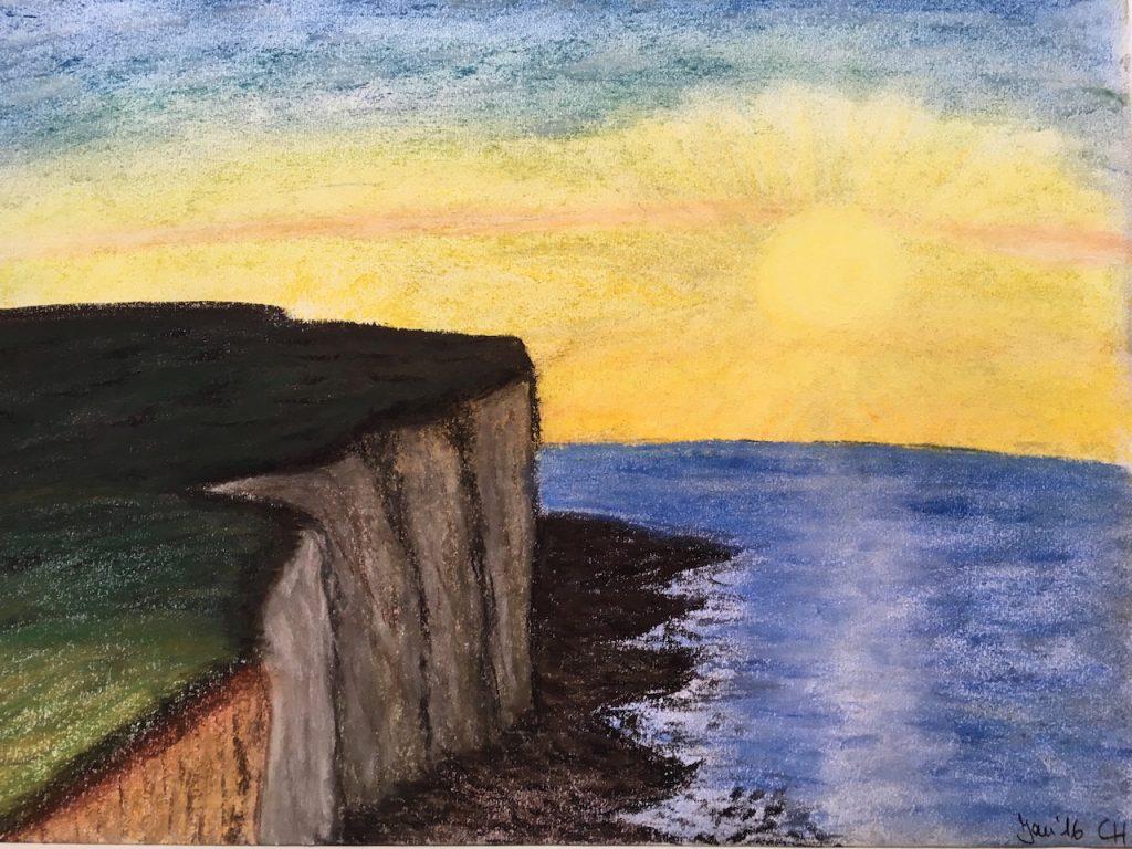 Ireland Coast, Pastellkreide, DIN A3 (CH Jan. 2016)