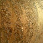 "Acrylic, abstract, ""Golden Girl"", Spachteltechnik, Leinwand 80x100cm (CH Juli 2016)"